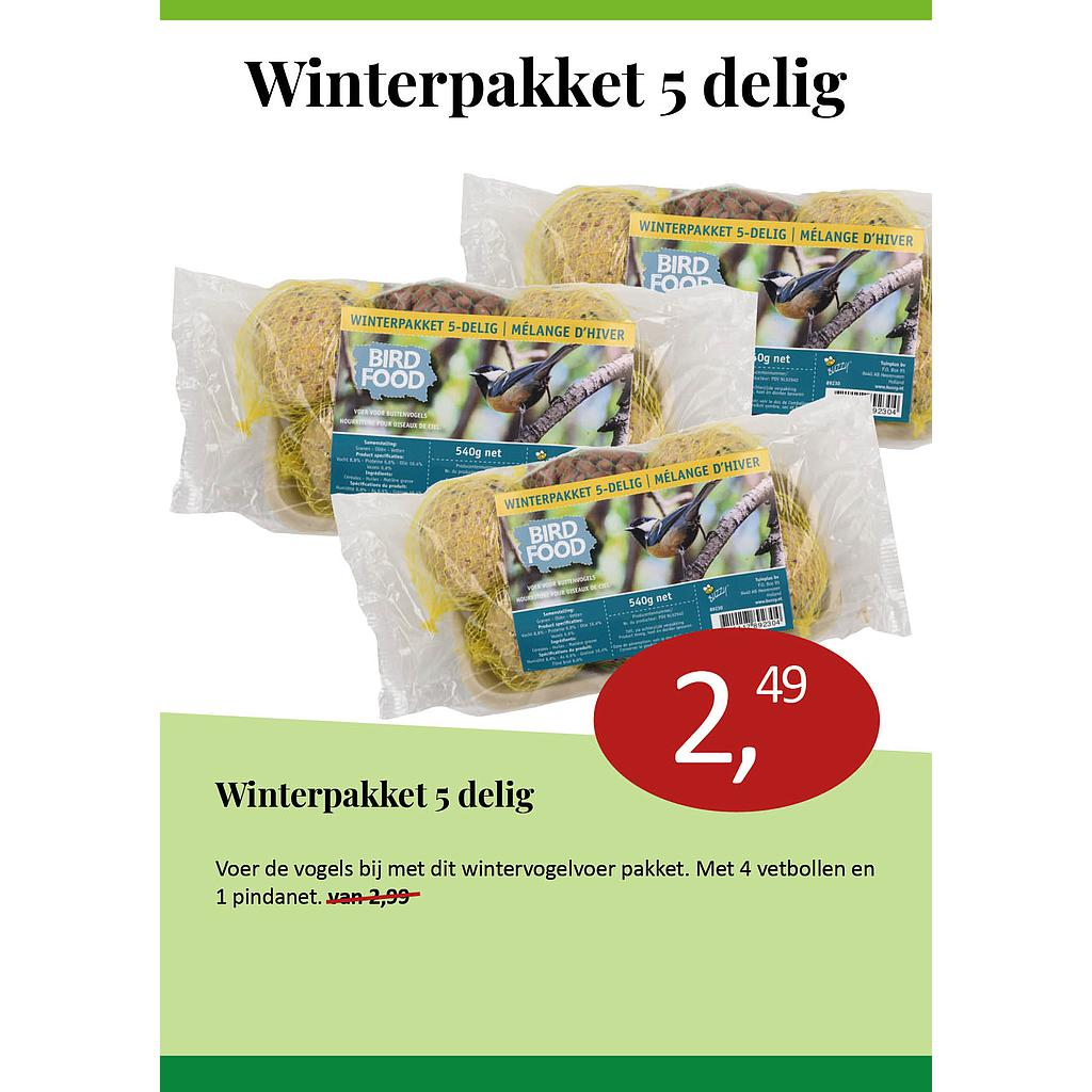 Bird Food Winterpakket 5-delig 540g
